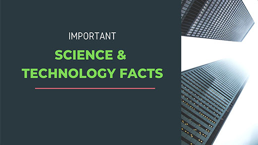 Science and technology facts