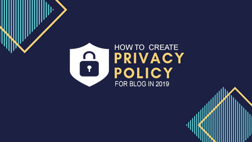 create privacy policy for blog