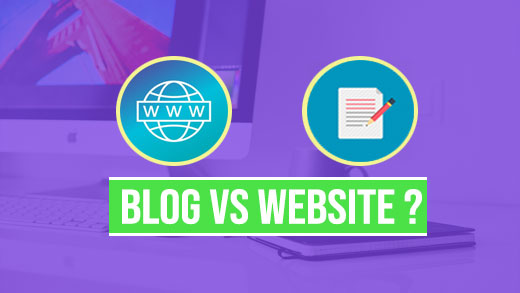 Major Difference Between Blog and Website